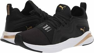 Women's Shoes PUMA SOFTRIDE RIFT BREEZE Athletic Sneakers 19506801 BLACK / GOLD