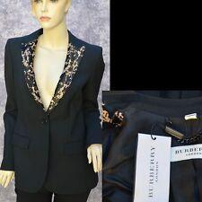 BURBERRY LONDON New sz 4 - 38 Auth Womens Designer Black Jacket Blazer $1095
