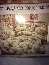 7pc Print Jacquard comforter set queen bed set No sheets