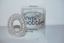 INVISIBOBBLE THE TRACELESS HAIR RING BRACELETS 3 PCS IN PACK - CRYSTAL CLEAR