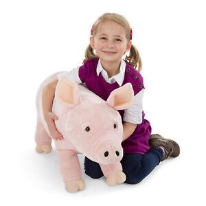 Melissa & Doug Plüsch Schwein XXL Kuscheltier Stofftier Plüschtier 76 cm groß