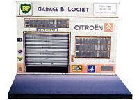 Diorama présentoir Citroën - Garage B. Lochet - 1/43ème - #43-2-A-A-001