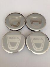 DACIA 4pcs Plastic Wheel Centre Caps with Alu Emblem 60mm/55mm NEW
