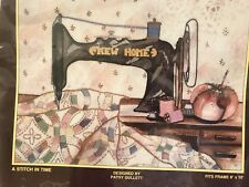 Sunset Treasures A Stitch In Time #2209 kit Antique Sewing Machine-New Home 8x10
