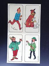 Rare plaquette d'autocollants Tintin Belvision 1973 BON ETAT