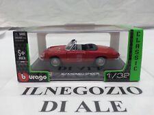 """BURAGO """"COLLEZIONE STREET CLASSIC"""" MODELLINO AUTO ALFA ROMEO SPIDER,SCALA 1/32,D"""