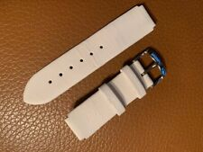 Philip Stein White Micro Fabric Leather Watch Band 1LWI ML Teslar 18mm 7in long