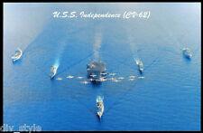 USS INDEPENDENCIA cv-62 Tarjeta Postal NOS MARINA Avión Transportista (card5)