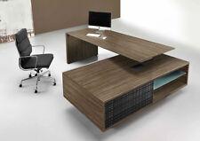 Schreibtisch mit Sideboard Managerschreibtisch Chefbüro Winkelschreibtisch