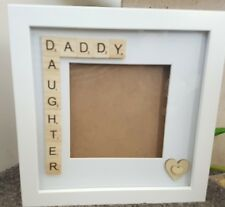 "PERSONALISED scrabble  Frame. 8""X8""Perfect for Father's Day"