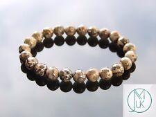 Leopard Skin Jasper Natural Gemstone Bracelet 6-9'' Elasticated Healing Stone