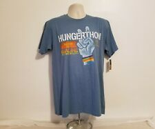 Hungerthon 2013 Imagine There's No Hunger Adult Large Blue T-Shirt John Lennon