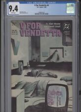 V For Vendetta #4 Nm 9.4 Cgc White Pages Moore Story Lloyd Cover And Art