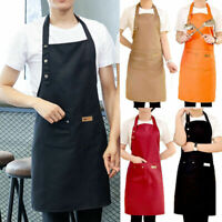 Kitchen Chef Apron Waterproof Pocket Catering Cooking Butcher Baking Craft D