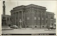 Aberdeen MS City Hall c1950s Real Photo Postcard jrf