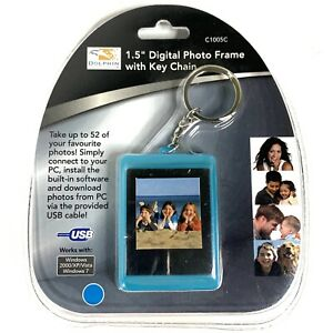 "Brand New & Sealed Dolphin 1.5"" Digital Photo Frame w/ Key Chain - Up to 54 Pics"