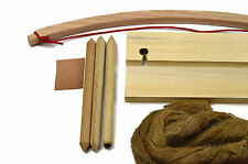 Deluxe BOW DRILL FIRE Set -Primitive Fire Starter Get a fire in less than 3 min!