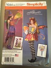 Simplicity Pattern 1034 Fantasy Fairy Pixie Witch Costume Misses Sz 14 to 22 New