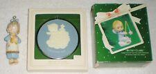 New listing 3 Hallmark Betsey Clark Christmas Ornaments Porcelain With Star - Cameo - Figure