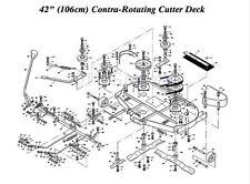 "WESTWOOD T1400 T1600 42"" Contra Rotating Deck Internal Cutter Belt  22869901"