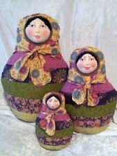 "*New* Cloth Art Doll (Paper) Pattern ""Babushkas"" By Suzette Rugolo"