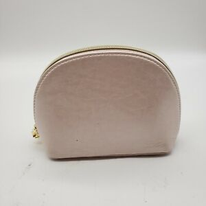 Bobbi Brown Makeup Bag Silver Pink Cosmetic Makeup Pouch Zippered Case NEW