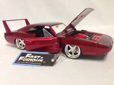 "Fast Furious 1969 Dodge Charger Daytona Collect. 8.25"" Diecast 1:24 Jada Toy Red"