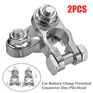 Universal Car Battery Clamp Terminal Connector Zinc Pile Head for SUV Truck Boat
