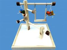 """BIRD TOY PLAY GYM,WITH 14"""" BASE-SWING,& TOYS-TWIN MOUNT"""
