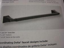 "Delta 75124-RB Dryden Towel Bar, 24"", Venetian Bronze, New, Free Ship"