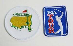 (1) LOT OF (2) GOLF PGA TOUR & MASTERS PATCH / PATCHES  LOGO IRON-ON ITEM # 131