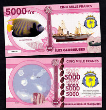 ★★★ ILES GLORIEUSES ● TAAF ● BILLET POLYMER 5000 FRANCS ★★ COLONIE FRANCAISE