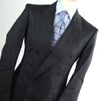 Pinstripe Mens Grey Striped Wool Blend Suit Jacket 38 (Regular)