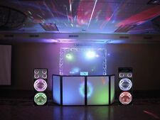 Technical Pro DJ Equipment Pack BS12SYSTEM LED Tower Speakers w/Mixer & Passive