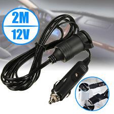 12V Car Boat Cigarette Lighter Socket Adapter 2M Extension Cable Lead indicator
