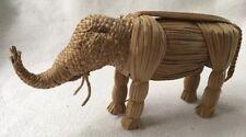 Small Straw Elephant. Great Detail !