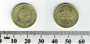 Chile 1971 - 10 Centesimos Aluminum-Bronze Coin - Bernardo O'Higgins