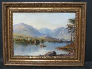 Lake District 1888 Windermere Bowness by William Taylor Longmire b.1841 Antique