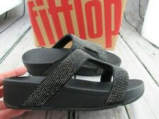 New in Box ~ Fitflop Marli Black Crystal Slide Sandals Size 9 / 41 ~ Z64-001 F2