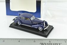 Ricko Cadillac V16 Aerodinamic Blue Car 1:87 Scale HO