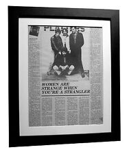 THE STRANGLERS+Rattus+IV+POSTER+AD+RARE ORIGINAL 1977+FRAMED+EXPRESS GLOBAL SHIP
