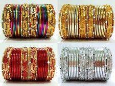 New Fashion Gold Tone Colored Indian Kids Bangles 24pcs Set Sizes 1.14, 2.0, 2.2