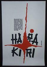 1138.Cuban movie POSTER.Powerful Graphic Design..Harakiri .Japan Room art Decor.