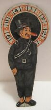 Historical Antique Tin Penny Toy Mussolini Anti Facist Roulette Wheel 1920s RARE
