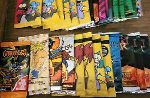 (41) Non Sport Simpsons Marvel Gargoyles Card Sealed CCG Pack LOT Booster Elvis