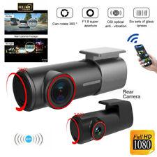 U700 Dual Dash Car Camera Cam Front and Rear Night Vision WiFi 1080P 170° Angle