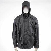 NEW MARMOT 41200 Men's PreCip Lightweight Waterproof Rain Jacket in Black - L