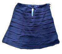 MARKS AND SPENCER Skirt Size UK 18 PURPLE   Ruffle Midi BNWT Wedding Occasion