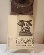 tribal African Art book - Kjersmeier 1937 Mask Figure Sculpture Statue