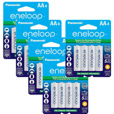 Panasonic Eneloop 20 AA Pre-Charged up to 2000mAH Rechargeable Batteries NEW